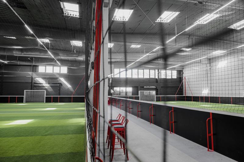 Installation de foot indoor centre de FitFive